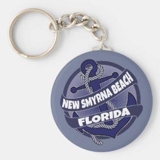New Smyrna Beach Florida anchor swirl keychain