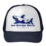 New Smyrna Beach Florida blue shark theme hat