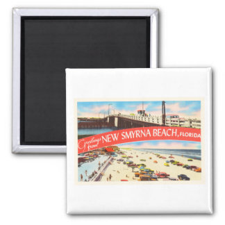 New Smyrna Beach Florida FL Old Travel Souvenir Magnet