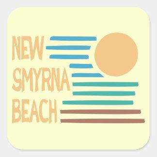 New Smyrna Beach Florida geometric design Square Sticker