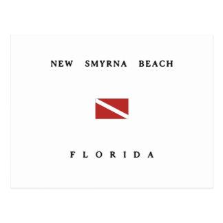 New Smyrna Beach Florida Scuba Dive Flag Postcard