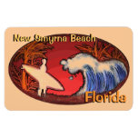New Smyrna Beach Florida surfer waves magnet