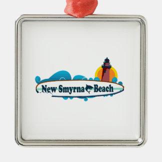 New Smyrna Beach. Metal Ornament