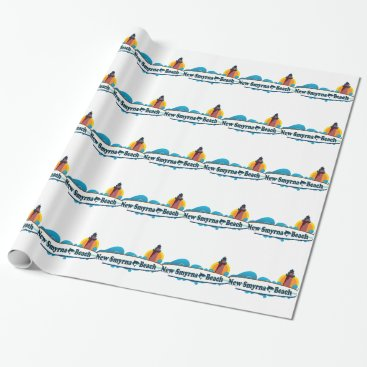 Beach Themed New Smyrna Beach. Wrapping Paper
