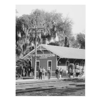 New Smyrna, Florida Railway Station, 1904 Postcard