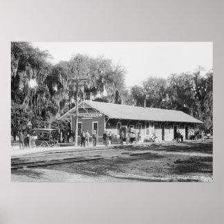 New Smyrna, Florida Railway Station, 1904 Poster