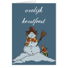 New Snow Man Christmas Card Snow Netherlands at Zazzle