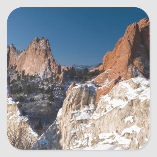 New Snow on the Monoliths Square Sticker