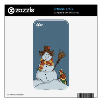 new snowman holiday iPhone skin Skins For The iPhone 4S