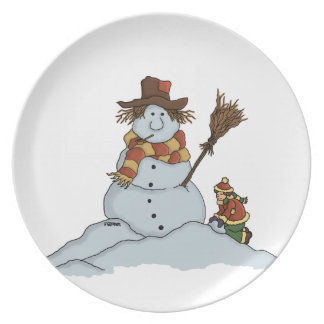new snowman holiday plate