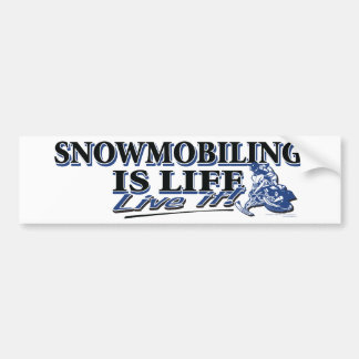 NEW-SNOWMOBILING-IS-LIFE-DIS BUMPER STICKER