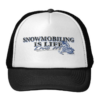 NEW-SNOWMOBILING-IS-LIFE-DIS TRUCKER HAT