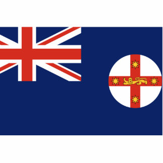 New South Wales, Australia flag Acrylic Cut Outs