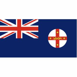New South Wales, Australia flag Photo Sculpture