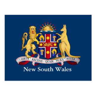 New South Wales coat of arms Postcard