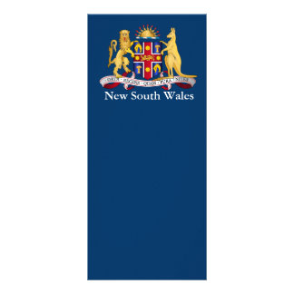 New South Wales coat of arms Rack Card