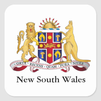 New South Wales coat of arms Square Sticker