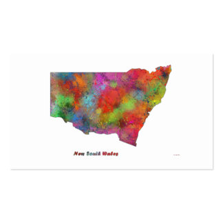 NEW SOUTH WALES MAP Double-Sided STANDARD BUSINESS CARDS (Pack OF 100)