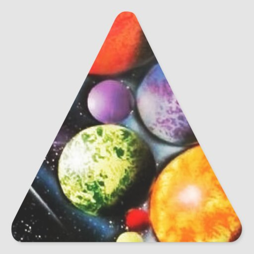 New Space Age Triangle Stickers
