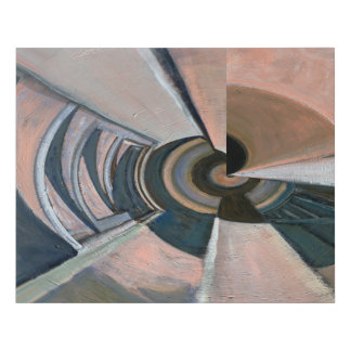 """""""New Spin on Recession"""" Contemporary Abstract Faux Canvas Print"""