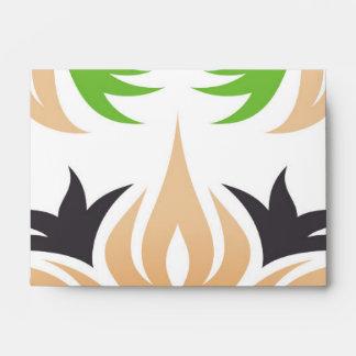 New Spring Floral Neutral Color Tan Plum & Green Envelope