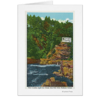 New State Hwy Bridge View of Ausable Chasm Card