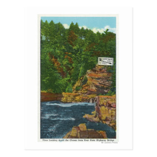 New State Hwy Bridge View of Ausable Chasm Postcard