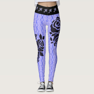 NEW-Street-Ware--Roses-Diamond(c)XS-XL_Leggings_ Leggings