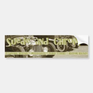 New Suede and Chrome bumpersticker Bumper Sticker