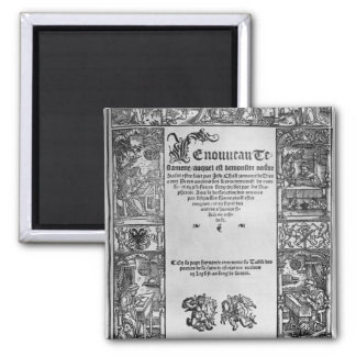 New Testament' Title Page of a French Translation 2 Inch Square Magnet