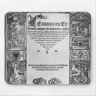 New Testament' Title Page of a French Translation Mouse Pad