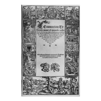 New Testament' Title Page of a French Translation Poster