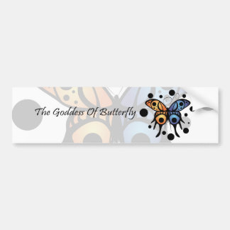 -New- The Goddess Of Butterfly Bumper Sticker