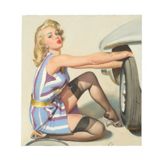 New Tire Pin-up Girl Notepad
