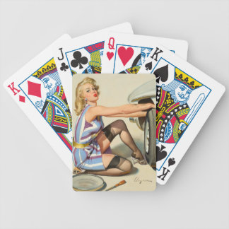 New Tire Pin-up Girl Bicycle Playing Cards