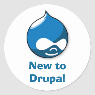 New to Drupal Round Stickers