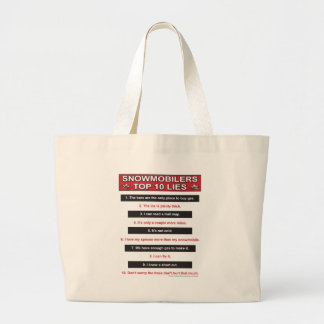 New-top-10-lies-Large-Red Large Tote Bag