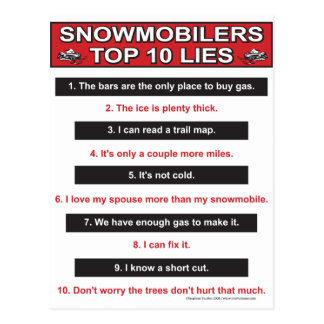New-top-10-lies-Large-Red Postcards