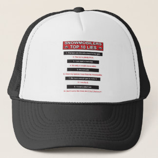 New-top-10-lies-Large-Red Trucker Hat