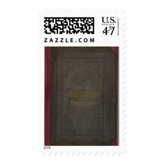 New topographical atlas and gazetteer of Indiana Postage