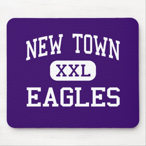 New Town - Eagles - High - New Town North Dakota Mouse Pads
