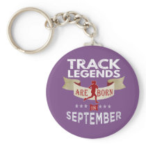 New Track Legends are born in  October Keychain