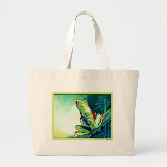 NEW TREE FROGS LARGE TOTE BAG