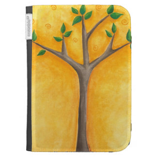 New Tree with Swirls folio Cases For Kindle