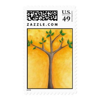New Tree with Swirls postage stamps