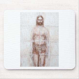 New Turin Shroud (Contemporary Realism Jesus) Mouse Pad