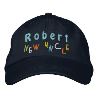 NEW UNCLE Custom Name NAVY BLUE A01 Embroidered Baseball Caps