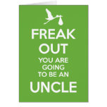 New Uncle to Be Pregnancy Announcement  Card