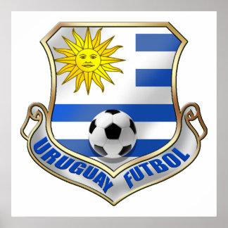 New Uruguay 2010 Fans Futbol badge Poster