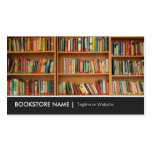New Used Bookstore Library - Book Shelves Picture Business Cards
